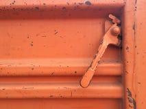 gammalt stållastbillås Royaltyfri Fotografi