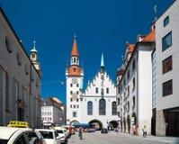 Gammalt stadshus - Altes Rathaus Byggnad i Munich, Tyskland Royaltyfria Foton