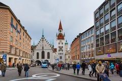 Gammalt stadshus av Munich Royaltyfri Bild