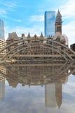 Gammalt stadshus av Toronto i gotisk stil royaltyfri fotografi