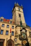 Gammalt stadshus, historiska byggnader, den Prague slotten, Tjeckien Arkivbild
