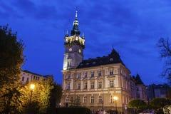 Gammalt stadshus i Bielsko-Biala Royaltyfri Foto