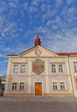 Gammalt stadshus i Brandys nad Labem, Tjeckien Royaltyfri Bild