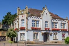 Gammalt stadshus i den historiska mitten av dåliga Bentheim Arkivbild