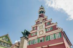 Gammalt stadshus i Esslingen Am Nechar, Tyskland arkivbild