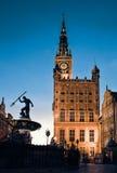 Gammalt stadshus i Gdansk, Polen Arkivfoto