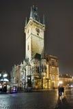 Gammalt stadshus i Prague Arkivbilder