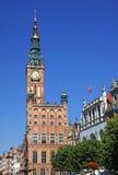Gammalt stadshus i stad av Gdansk, Polen Royaltyfria Foton