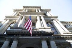 Gammalt stadshus i staden Boston Arkivfoton