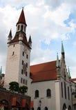 Gammalt stadshus, Munich Royaltyfri Foto