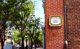 Gammalt stadstadshus - Alexandria, Virginia Arkivfoto