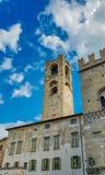 Gammalt stadstorn av Bergamo Fotografering för Bildbyråer