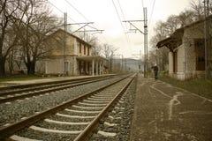 gammalt stationsdrev Arkivbild