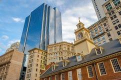 Gammalt statligt hus, Boston Fotografering för Bildbyråer