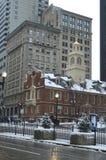 Gammalt statligt hus i Boston, USA på December 11, 2016 Arkivbild