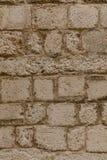 Gammalt stena väggen av den stora stenen, textur royaltyfri foto