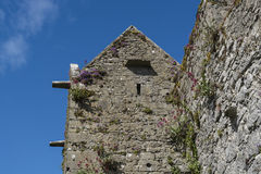 Gammalt stentorn i den Dunguaire slotten, Irland Arkivfoton