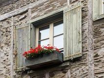Gammalt stilfullt fönster Royaltyfri Foto