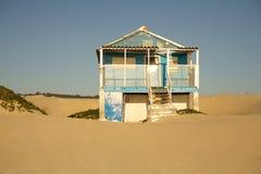 Gammalt strandhus Fotografering för Bildbyråer