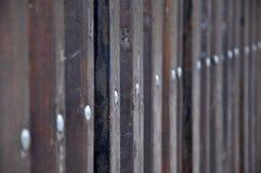 Gammalt stupat tr?staket fotografering för bildbyråer