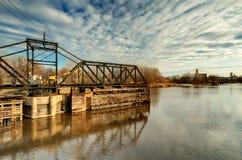 gammalt svängdrev för bro Fotografering för Bildbyråer