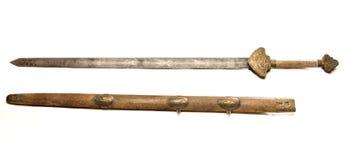 gammalt svärd arkivfoto