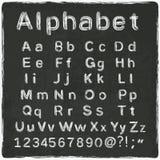 Gammalt svart bräde för alfabet Royaltyfri Fotografi