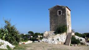 gammalt syracuse för porthus tempel Arkivbilder
