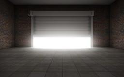 Gammalt töm garaget Arkivbild