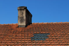gammalt tak Royaltyfri Fotografi