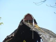 gammalt tak för ladugård Fotografering för Bildbyråer
