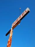 Gammalt tecken för diesel- bränsle Royaltyfria Bilder