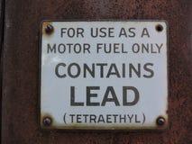 Gammalt tecken för gaspump Arkivfoton