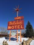 gammalt tecken för motell Royaltyfria Bilder