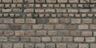 Gammalt tegelstenar och cement, väggtextur Arkivfoto