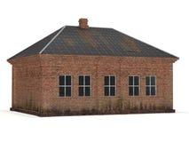gammalt tegelstenhus Fotografering för Bildbyråer