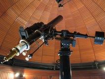 Gammalt teleskop Arkivfoto