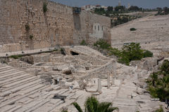 gammalt tempel för stadsjeruslaemmontering Arkivbilder
