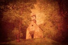 Gammalt texturerat foto av kyrkan royaltyfri fotografi