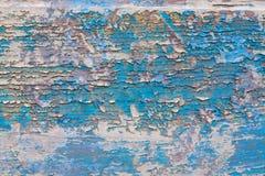 gammalt texturträ blått violett tappningmålarfärg Royaltyfri Foto