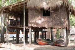 gammalt thai för hus Arkivfoto