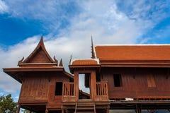 Gammalt thai hus två fotografering för bildbyråer
