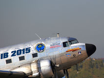 Gammalt tidamerikanflygplan Arkivfoto