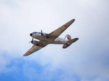 Gammalt tidamerikanflygplan Fotografering för Bildbyråer