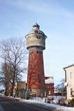 Gammalt tidigare tyskt vattentorn i Polessken Labiau, Kaliningrad region Ryssland Royaltyfri Bild