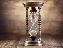 gammalt timglas fotografering för bildbyråer