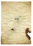 Gammalt tomt antikvitetpapper på vit bakgrund Royaltyfri Foto