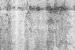 Gammalt tomt mörker - grå betongvägg, bakgrund arkivfoto