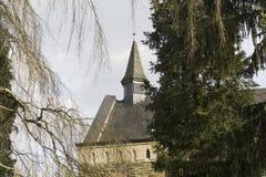 Gammalt torn av kyrkan Royaltyfri Fotografi