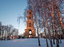 gammalt torn för klocka Fotografering för Bildbyråer